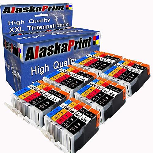 Alaskaprint Ersatz für Canon PGI-550 CLI-551 XL Druckerpatronen kompatibel mit Canon Pixma IP7200 MG5450 MG6650 MG7150 MG7550 IP-7200 MG-5450 MG-6650 MG-7150 MG-7550 Patronen Tintenpatronen 30er-Pack