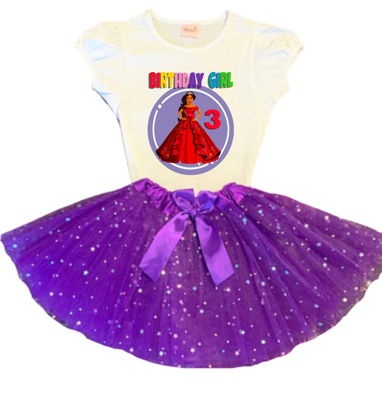 Elena of Today's only Avalor Birthday Tutu Popular product Purple Party Tu Dress 3rd