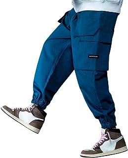 Irypulse Unisex Cargo Pantalones Combate Grande Bolsillo Casual Trendy Hip Hop Ropa Calle Pants para Hombres Mujeres Jóven...