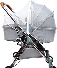 Fengzio Universal Insektenschutz für Kinderwagen & Buggy Moskitonetz für Kinderwagen mit 3D-Unterstützung und Zweiwege-Reißverschluss - Weiß