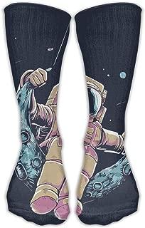 WOYRBUZ Spaceman Swing Moon Good Luck Sock Unisex Good For Gift Idea