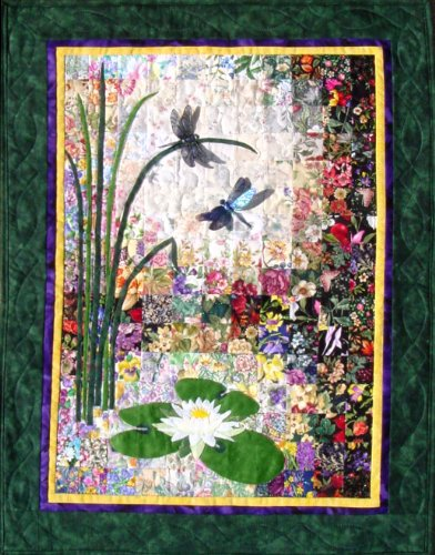 Whims Watercolor Quilt Kits Dragonflies and Lilypads Quilting Supplies