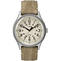Timex Mens MK1 40mm Khaki Fabric Strap Dress Watch Deals