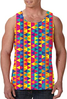 Men's Sleeveless Undershirt Summer Sweat Shirt Beachwear - Drawn Background
