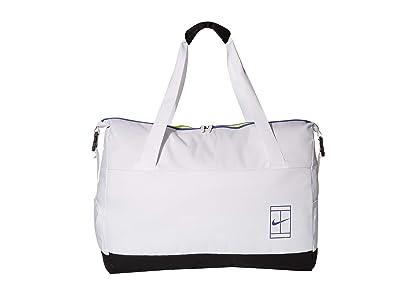 Nike Court Advantage Tennis Duffel Bag (White/Black/Rush Violet) Duffel Bags