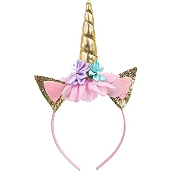 Party Propz Unicorn Head Band Combo Set for Unicorn Party Supplies (1 Pieces Golden Headband)
