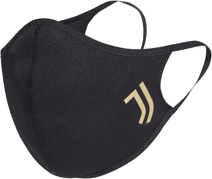 mascherina juventus adidas club - maschera per il viso confezione da 3 b09fhr4hh9