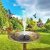 Dongbin 2.5Wsolar Vogel-Bad Teichpumpe, Solarbrunnen-Pumpe Mit 6 Düsen, Freistehende Schwimm Solar Water Powered Brunnen Pumpspray Garten, Teich, Pool