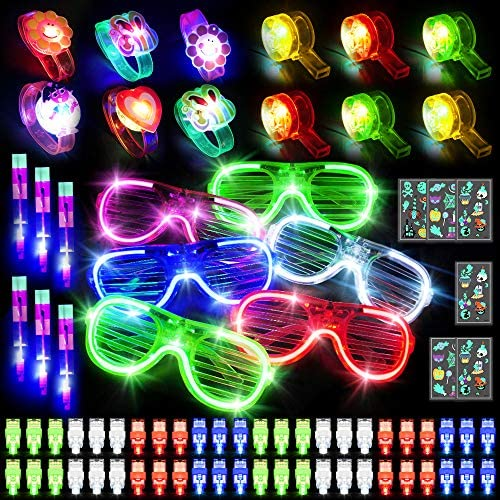 78 PCS Glow Party Favors Set Glow in the Dark Party Supplies for Kids Light up Party Favors product image