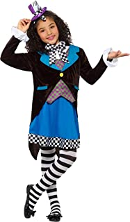 Smiffys Fancy Dress Party Little Miss Hatter Costume With Dress S M L