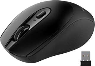 YUMQUA SB222-W Computer Mouse Wireless , 2.4G Optical Silent Mouse with Nano USB Receiver, 3 Adjustable DPI(Up to 1600), C...