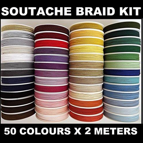 kit tresse Soutache Couleurs 50 x 2 m