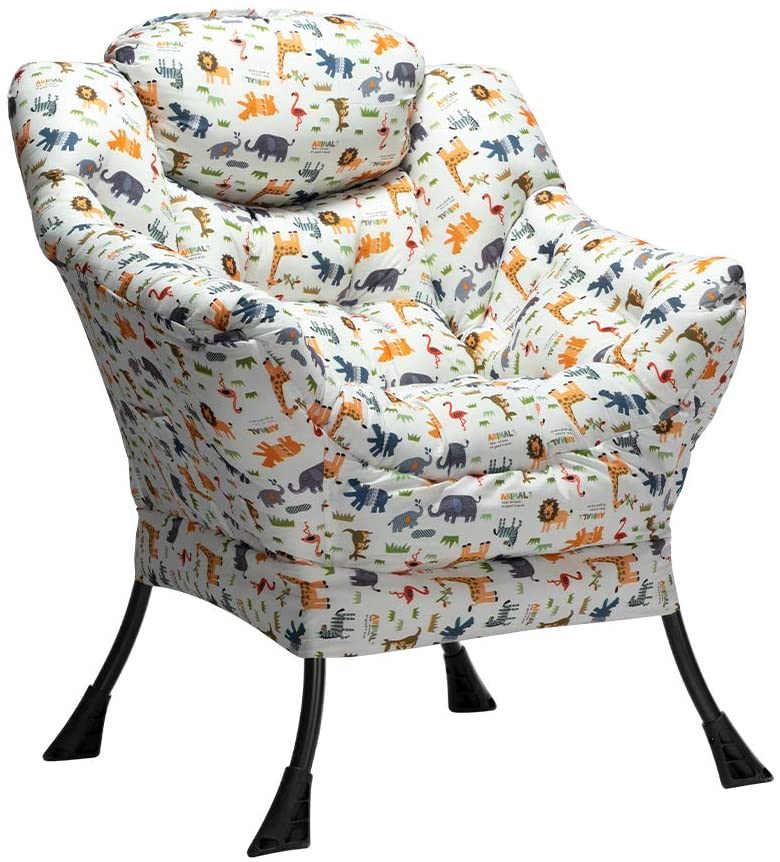 HollyHOME Modern Velvet Fabric Lazy Chair Surprise price Genuine Free Shipping Contemporary L Accent