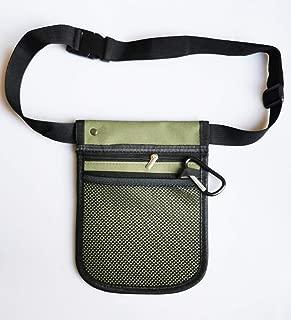 Nurse Pocket Pouch Quick Pick Portable Waist Purse Bag Nurse Tool Bag 2 Sided - 8 Pocket Long Adjustable Belt (Army Green)