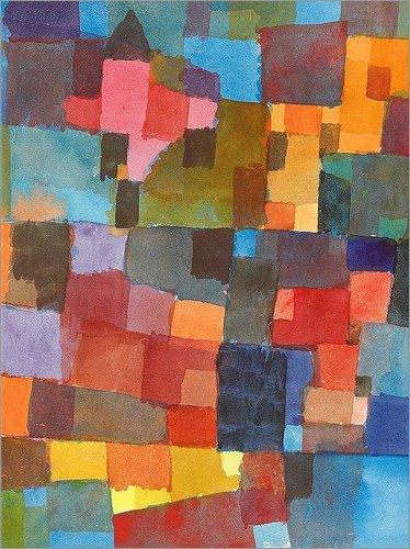 Posterlounge Stampa su Vetro Acrilico 30 x 40 cm: Room Architectures di Paul Klee