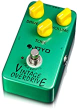 JOYO JF-01 Overdrive Effects Pedal, Vintage Overdrive Classic Tube Screamer Pedal for Electric Guitar Effect, True Bypass