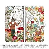 らくらくスマートフォンme F-03K ケース [デザイン:赤ずきん/マグネットハンドあり] 童話 手帳型 スマホケース カバー docomo ドコモ f03k