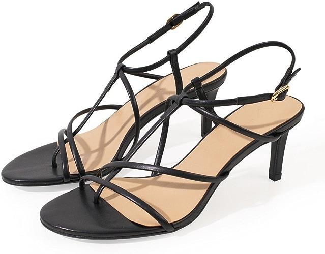 DHG Boucle Western avec Une Vraie Amende avec des Chaussures à Talons Hauts,Noir,35