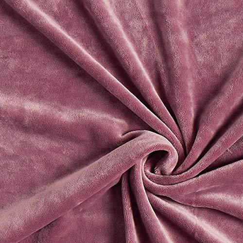 Fabulous Fabrics Samt Altrosa, Uni, 150cm breit – Samt zum Nähen von Jacken, Hosen und Kleidern – Meterware erhältlich ab 0,5 m