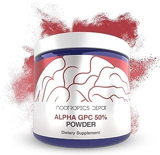 Alpha GPC Powder (50%) | 60 Grams | Cholinergic Supplement | Brain Health Supplement | Supports Healthy Brain Function | Enhance Cognition, Memory + Focus
