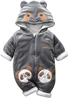 03632393b24a6 Happy Cherry Combinaison Pilote Bébé Fille Garçon Habit de Neige Panda  Enfant Manteau Polaire Oreille Chaud