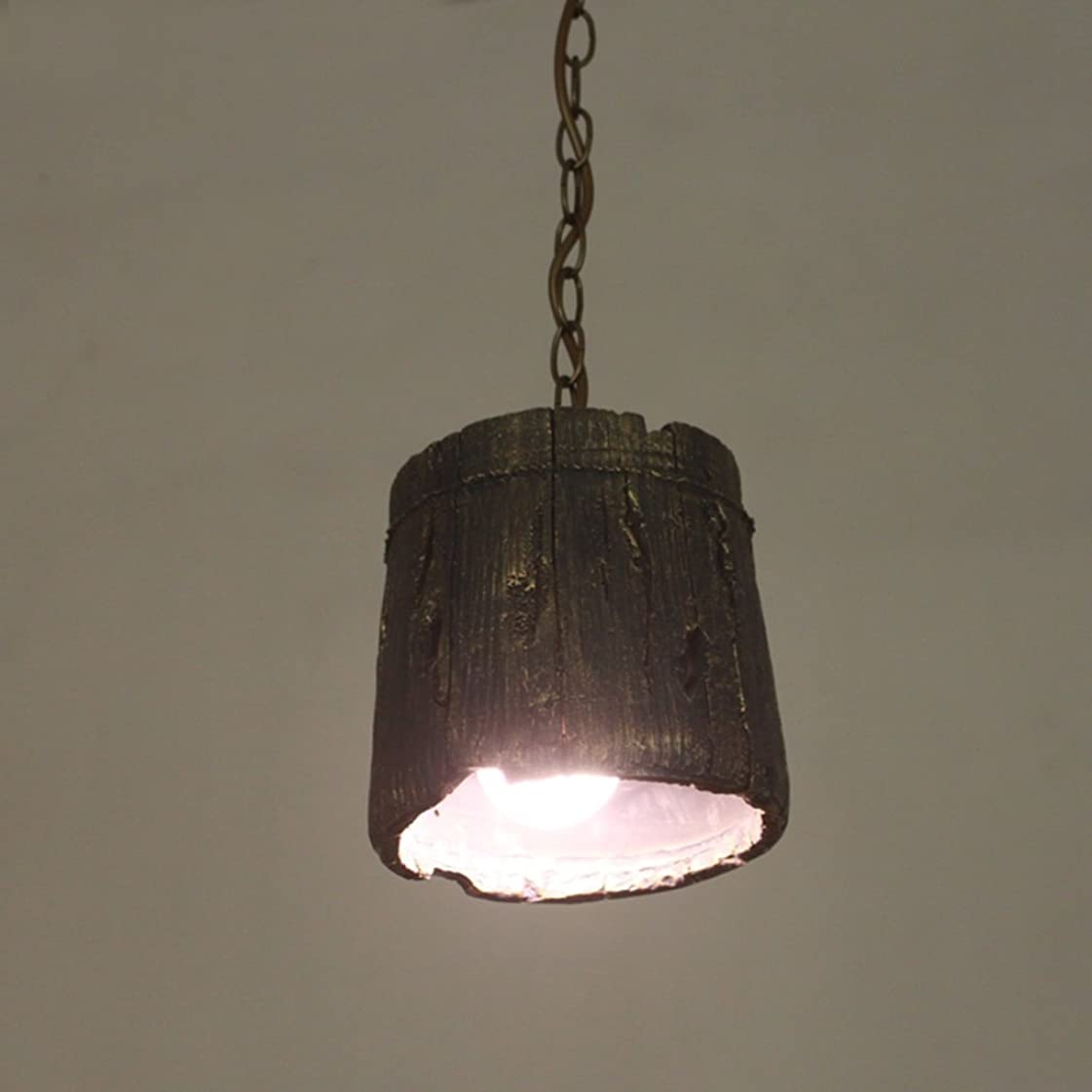 ガラガラ嵐のバラバラにするYSYYSH レトロな人格クリエイティブシングルヘッド樹脂シャンデリアバーバルコニーシャンデリアリビングエリアに最適 寝室の装飾ライト