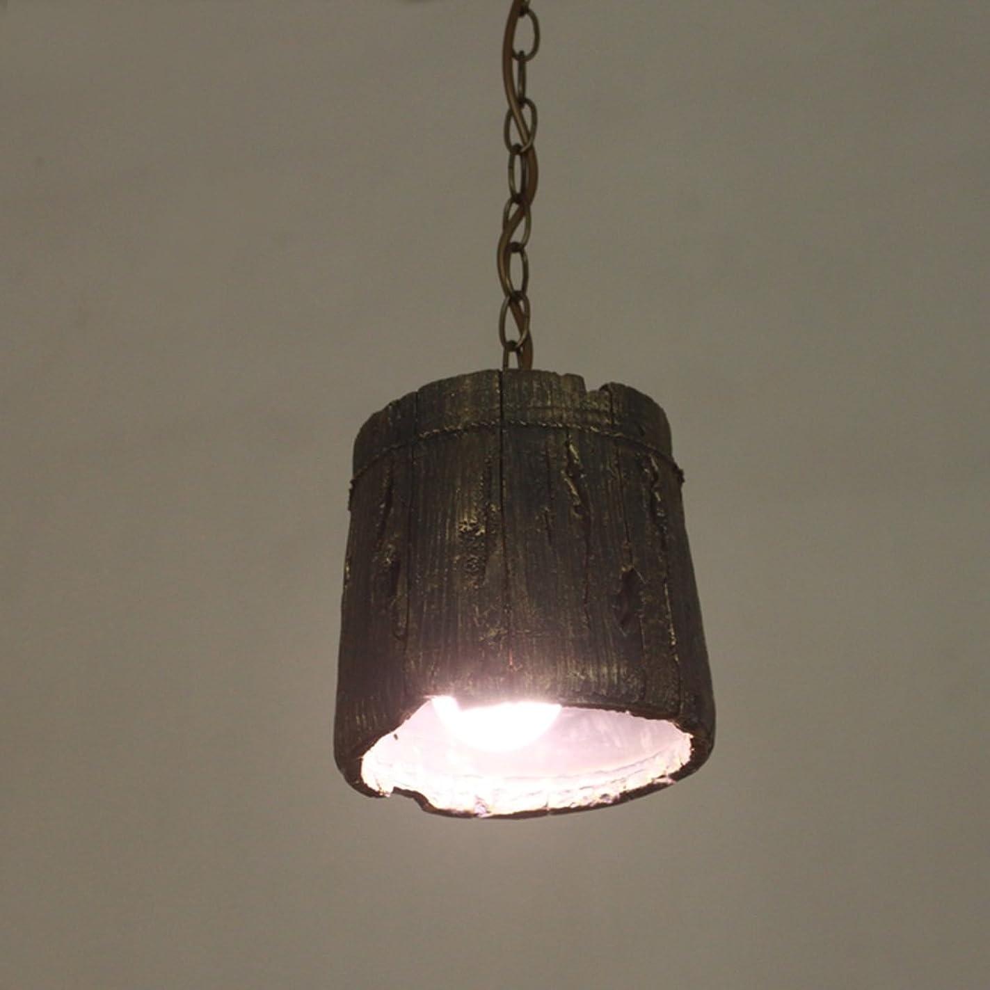 パーセント髄ストライクYSYYSH レトロな人格クリエイティブシングルヘッド樹脂シャンデリアバーバルコニーシャンデリアリビングエリアに最適 寝室の装飾ライト