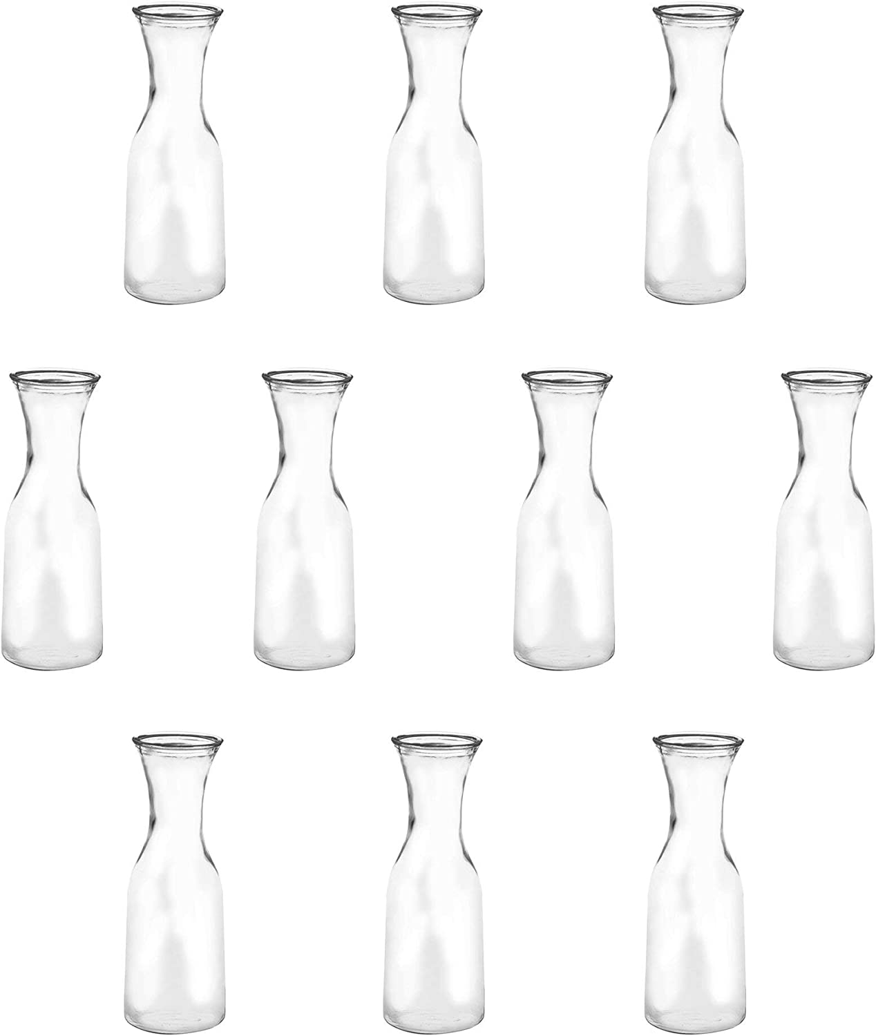 34 Overseas parallel import regular item oz. Clear Glass Water Carafes Decante BPA Max 64% OFF Wine pack Free 10
