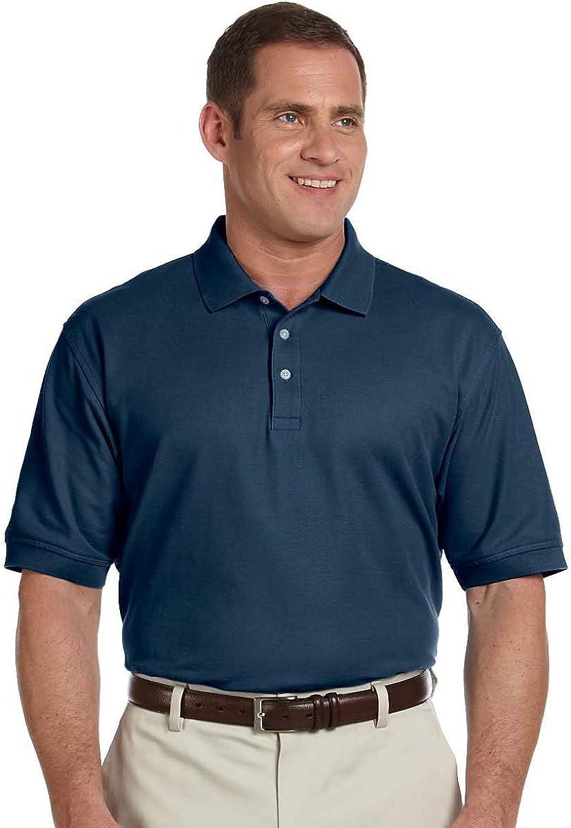 Devon & Jones Men's Tall Pima Pique Polo Shirt, XX-Large Tall, Navy