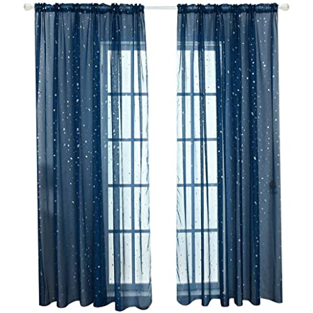 Fenstervorhang Raumteiler Transparenter Vorhang Für Tür Fenster Pailletten Stern