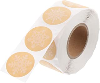 Buste con ciondoli Invernali da 38 mm Sacchetti per sigilli Feelava Adesivi con Fiocchi di Neve di Natale,240 Pezzi di Etichette adesive a Cerchio Tondo per sigilli per Sacchetti di Caramelle