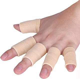 Best Luniquz Finger Sleeves, Thumb Splint Brace for Finger Support, Relieve Pain for Arthritis,Triggger Finger, Compression Aid for Sports, Beige Review