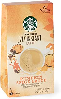 Starbucks Via Ready Brew Pumpkin Spice 5 Single Serve Packets(1.12 Oz each)