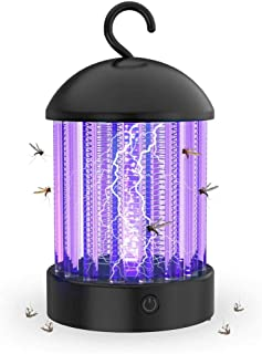 Lámpara Antimosquitos, Repelente de Moscas Eléctrico Zapper Repelente de Moscas Lámpara UV Carga USB Antimosquitos Resistente al Agua Luz Nocturna para Dormitorio Patio de la Oficina Camping Pesca
