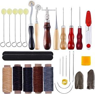 Kit de Gravure sur Cuir Ensemble D'outils en Cuir Bricolage Cousu à La Main Ensemble D'artisanat en Cuir Maroquinerie Arti...