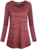 Kimmery Yoga Long Sleeve Shirts for Women, Ladies Running Shirt Stretch Fabric Athletic Top Moving...