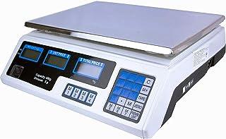 Gutstark Bascula Digital 40 Kg Comercial Negocio Recargable Multifuncion Calcula Peso Precio Doble Pantalla LCD