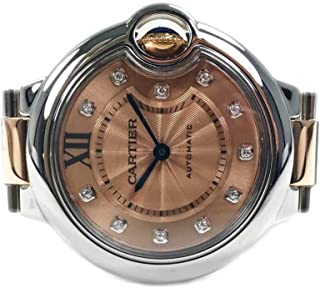 Cartier Ballon Bleu Rose Gold/Stainless Steel 33mm WE902053-Certified Pre-Owned (Renewed)