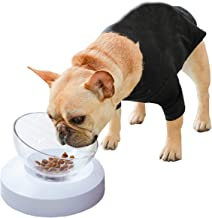 PETNOZ Double Cat Dog Bowls Elevated Pet Food Water Bowl Raised Elevated Adjustable Height 20 Degree Tilt Design Neck Guard Stand Raised The Bottom for Cats and Small Dogs