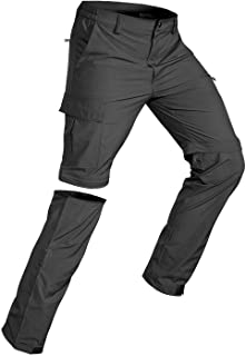 Wespornow Men's-Convertible-Hiking-Pants Quick Dry Lightweight Zip Off Breathable Cargo Pants for Outdoor, Fishing, Safari