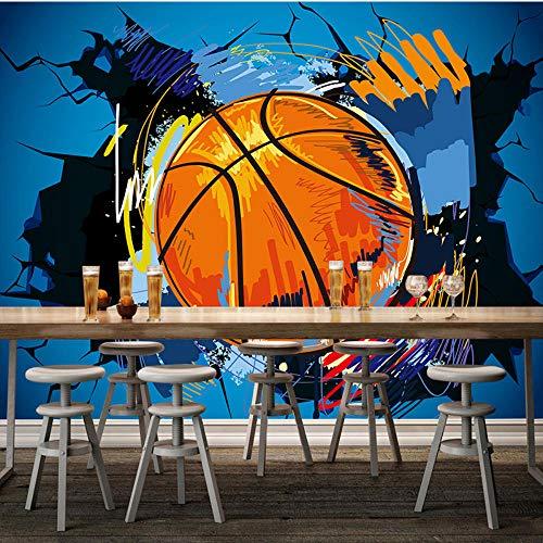 Papel Pintado Baloncesto De Dibujos Animados En 3D Mural De Pared Roto Graffiti Wallpaper Niños Dormitorio De Niños Bar Fondo Pintura De Pared Fondos De Pantalla Modernos