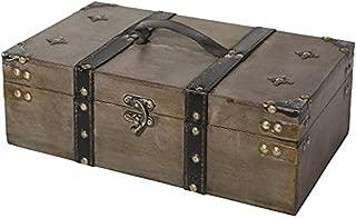 Soul & Lane Winchester Wooden Storage Chest Trunk   Decorative Treasure Stash Box