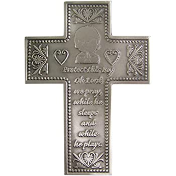 8 Resin My First Communion Wall Cross with Gold and Silver Finish