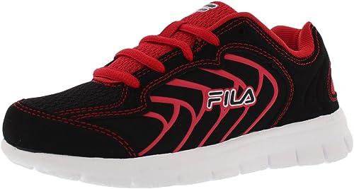 Fila Star Runner Boys Running chaussures Taille US 3, Regular Width, Couleur noir rouge