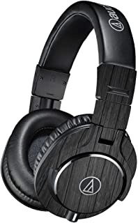 Skin Compatible with Audio-Technica ATH-M40x Headphones - Black Wood  MightySkins Protective, Durable, and Unique Vinyl Decal wrap Cover   Easy to Apply, Remove, and Change Styles   Made in The USA