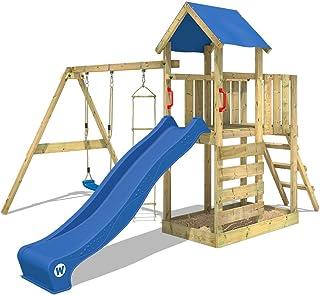 Parque infantil de madera con columpio y tobogán - WICKEY FastFlyer