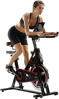 Xspec Pro Stationary Upright Exercise Cycling Bike, Heart Pulse Sensors, Adjustable Friction Resistance, 3-Piece Crank, Multi-Function Monitor. 40lb / 50lb flywheel