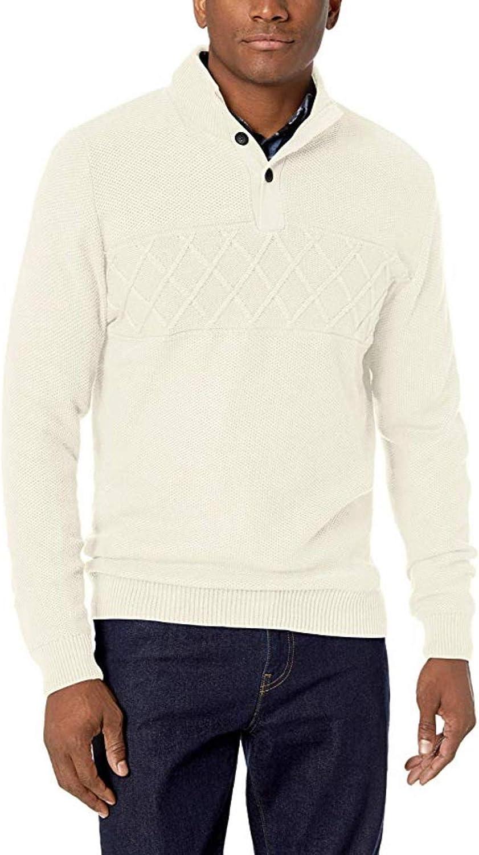 Chaps Men's Chest Texture Mock Neck Long Sleeve Sweater