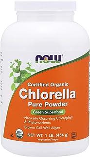 NOW Supplements, Organic Chlorella Powder with naturally occurring Chlorophyll, Beta-Carotene, mixed Carotenoids, Vitamin ...