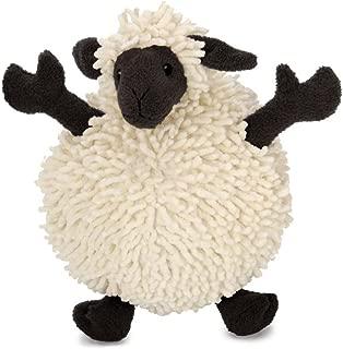 goDog Fuzzy Wuzzy Sheep with Chew Guard Technology Tough Plush Dog Toys